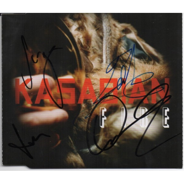 Kasabian authentic signed genuine signature CD COA AFTAL UACC