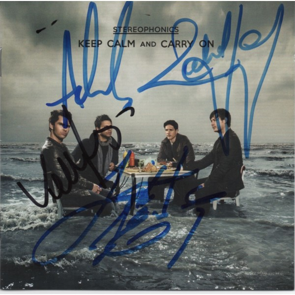 Stereophonics authentic fully signed genuine signature CD COA AFTAL UACC