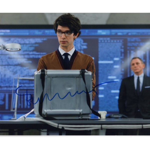 James Bond Ben Whishaw Q Skyfall genuine signed authentic autograph photo
