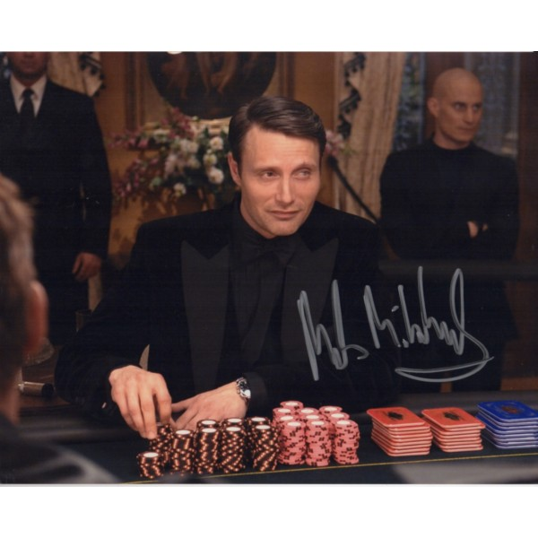 James Bond Mads Mikkelsen authentic genuine signed autograph photo
