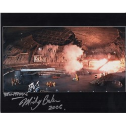 James Bond Micky Baker stunt signed authentic autographs photo
