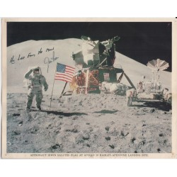 James Jim Irwin Apollo space signed genuine signature photo