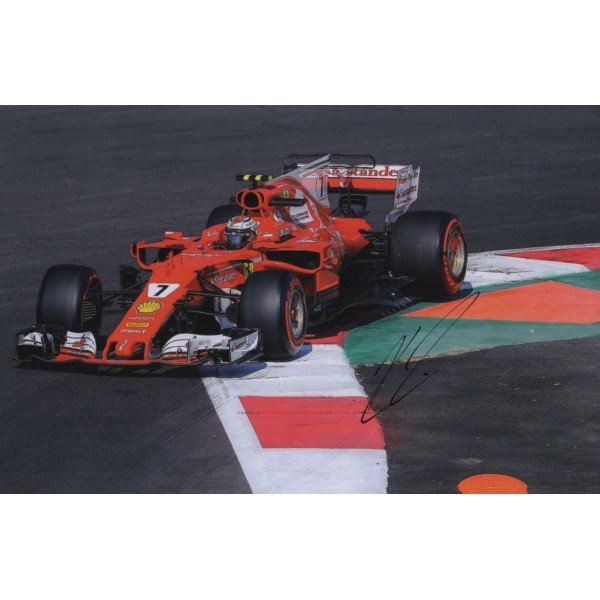 Kimi Raikkonen Ferrari F1 genuine authentic signed photo COA RACC