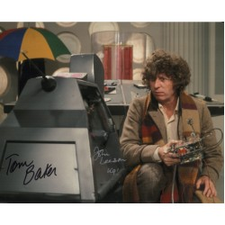 Doctor Who Tom Baker John Leeson authentic genuine signed autograph photo