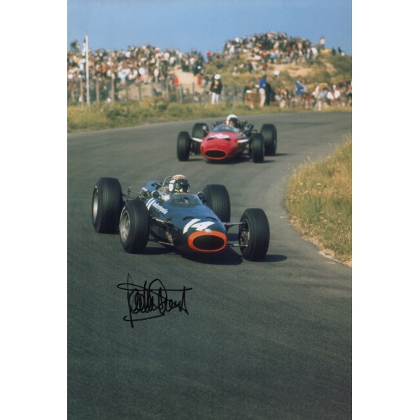 Jackie Stewart BRM  F1 genuine signed authentic autograph photo AFTAL