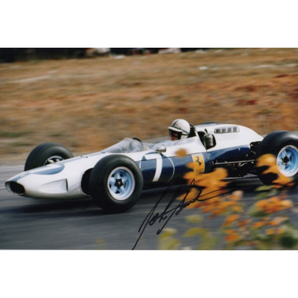 John Surtees Ferrari F1 genuine signed authentic autograph photo AFTAL