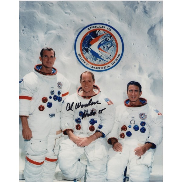 Apollo 15 Al Worden signed autograph photo space 9.