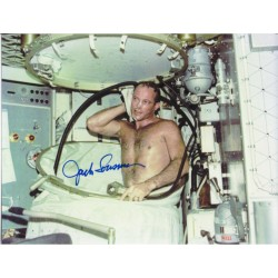 Jack Lousma skylab  taking a shower! authentic signed photo.