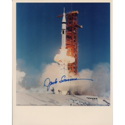 Jack Lousma Skylab launch genuine signed colour photo UACC