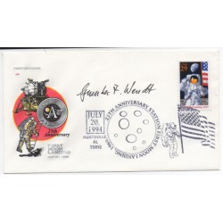 Geunter Wendt space genuine authentic autograph signed FDC