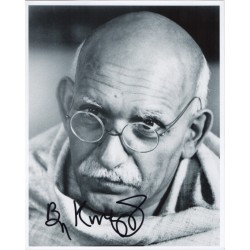 Ben Kingsley Ghandi signed genuine signature authentic signed photo COA