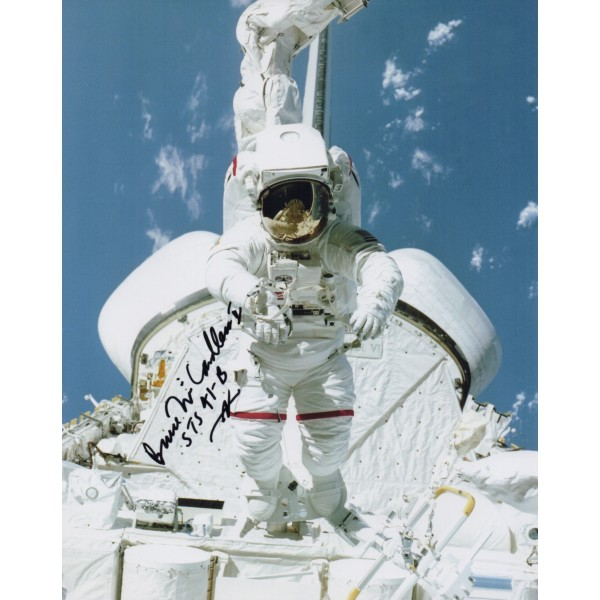 Bruce McCandless STS 41b authentic genuine signed photo