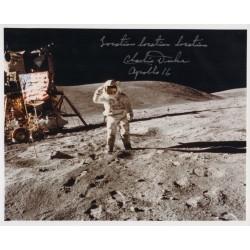 Charlie Charles Duke Astronaut genuine authentic autograph signed photo