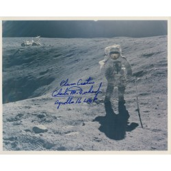 Charlie Duke Apollo astronaut genuine signed authentic autograph photo