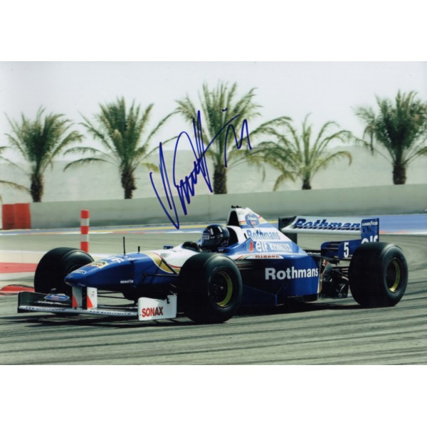 Damon Hill Williams  F1 authentic signed genuine autograph photo AFTAL