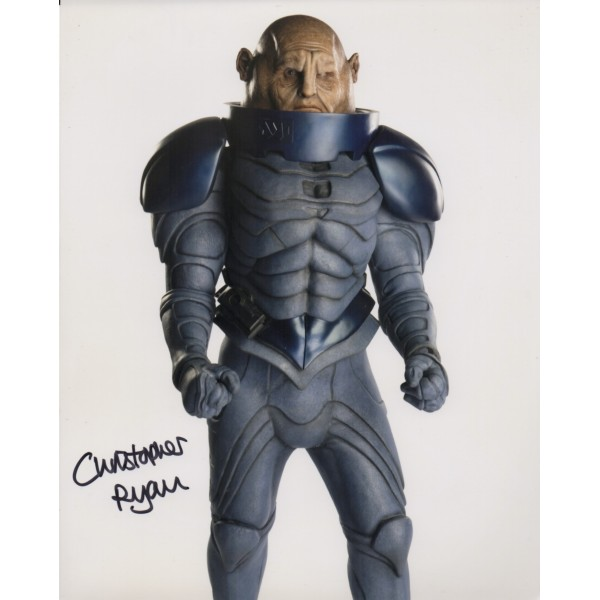 Doctor Who Cristopher Ryan genuine authentic autograph signed photo