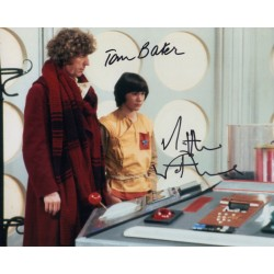 Doctor Who Tom Baker Mathew Waterhouse genuine authentic autograph signed photo