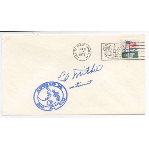 Ed Mitchell Apollo 14 astronaut genuine signed authentic autograph FDC