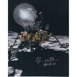 Edgar Mitchell authentic signed autograph colour photo AFTAL