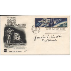 Guenter Wendt Apollo Mercury etc Pad Leader genuine authentic autograph signed FDC.