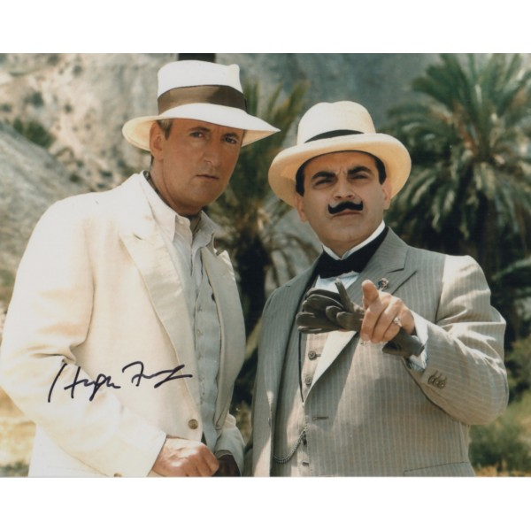 Hugh Fraser Poirot genuine authentic signed autograph photo