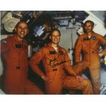 Jack Lousma with Skylab crew authentic signed photo.