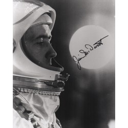 Jim McDivitt Gemini Apollo genuine authentic signed autograph photo