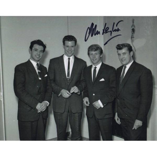 John Leyton with Joe Meek signed genuine signature autograph photo