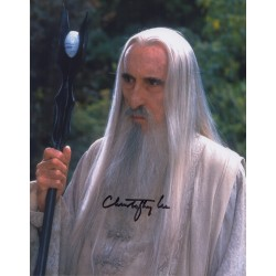 Lord of the Rings Lee Saruman genuine authentic autograph signed photo AFTAL