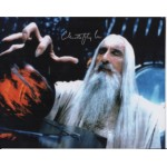 Lord Rings Christopher Lee Saruman genuine authentic autograph signed photo 3.