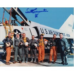 Mercury Scott Carpenter signed autograph colour photo 1 COA UACC