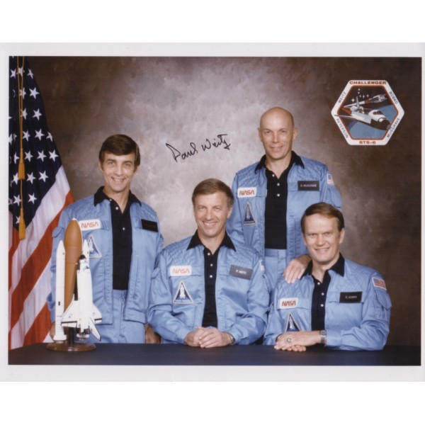 Paul Weitz astronaut authentic signed photo shuttle 2
