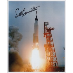 Scott Carpenter Mercury astronaut authentic signed photo UACC