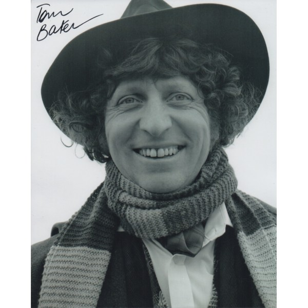 Tom Baker Doctor Who signed genuine signature authentic signed photo 2