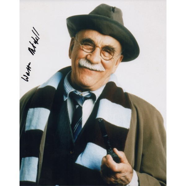 Warren Mitchell genuine signed authentic signature photo