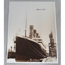 RMS Titanic Millvina Dean large photo authentic genuine signed