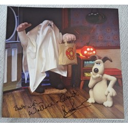 Nick Park Wallace and Gromit authentic genuine signed image COA UACC 6