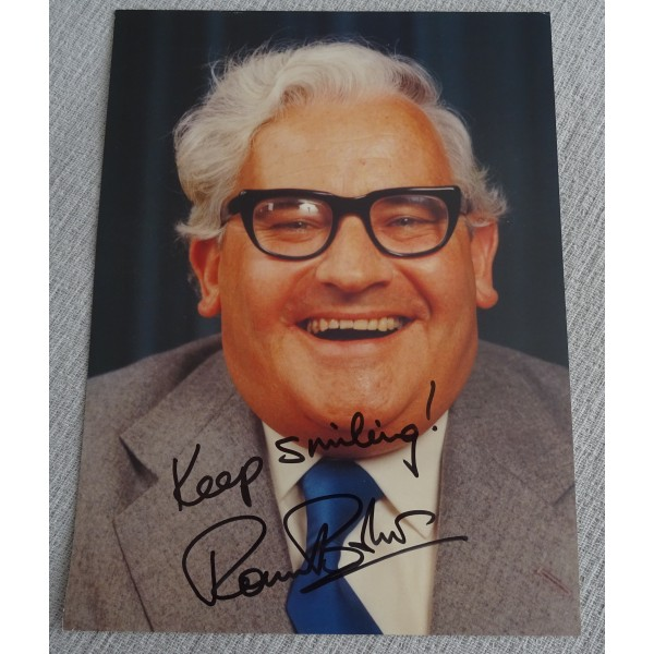 Ronnie Barker comedy authentic genuine signed image COA UACC AFTAL