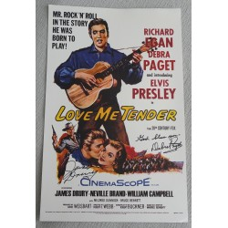 Debra Pagett James Drury authentic genuine signed poster Elvis Presley