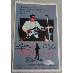 Gary Busey Don Stroud authentic genuine signed poster Buddy Holly