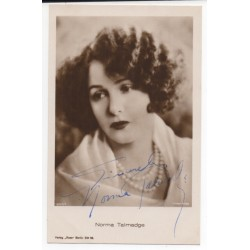 Norma Talmadge genuine signed authentic signature photo COA UACC