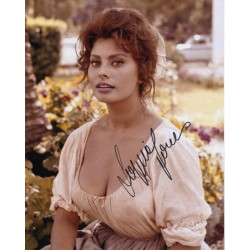 Sophia Loren sexy authentic genuine signed photo COA AFTAL UACC