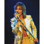 Rod Stewart music authentic genuine signed image COA UACC AFTAL