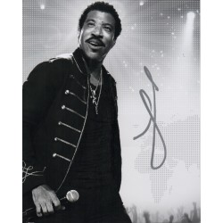 Lionel Richie Music authentic genuine signed image COA UACC AFTAL