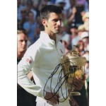 Novak Djokovic Tennis authentic genuine signed image COA UACC RACC