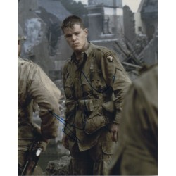 Matt Damon Saving Private Ryan authentic genuine signed image COA UACC RACC