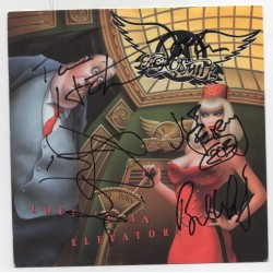 Aerosmith fully signed Love in an Elevator authentic genuine signed COA