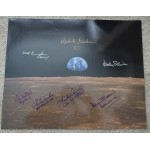 Alan Bean  Ed mitchell Apollo space authentic autograph large signed photo