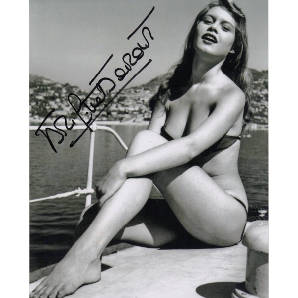 Brigitte Bardot sexy genuine authentic autograph signed photo