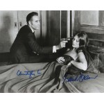 Christopher Lee Maud Adams Bond authentic genuine signed photo COA